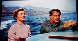 Cary Grant e Brigitte Auber em Ladrão de Casaca, de Hitchcock